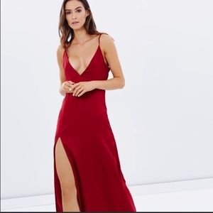 Lioness Up In Smoke Red Maxi Dress